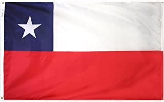 product image for Annin Flagmakers Model 191622 Chile Flag 3x5 ft. Nylon SolarGuard Nyl-Glo 100% Made in USA to Official United Nations Design Specifications.