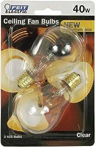 Feit Electric BP40A15N/CL/CF 40-Watt Incandescent A15 Bulb