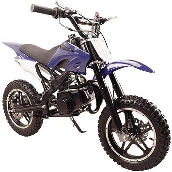 Amazon.com: 49cc 50cc High Performance Blue 2-Stroke Gas Motorized Mini Dirt Pit Bike: Automotive