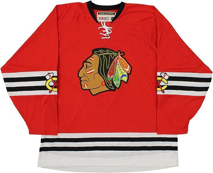 NHL Mens Chicago Blackhawks Team Classic Jersey, Red