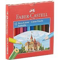 Faber-Castell 5171116412000 Karton Kutu Boya Kalemi 12 Renk Yarım Boy