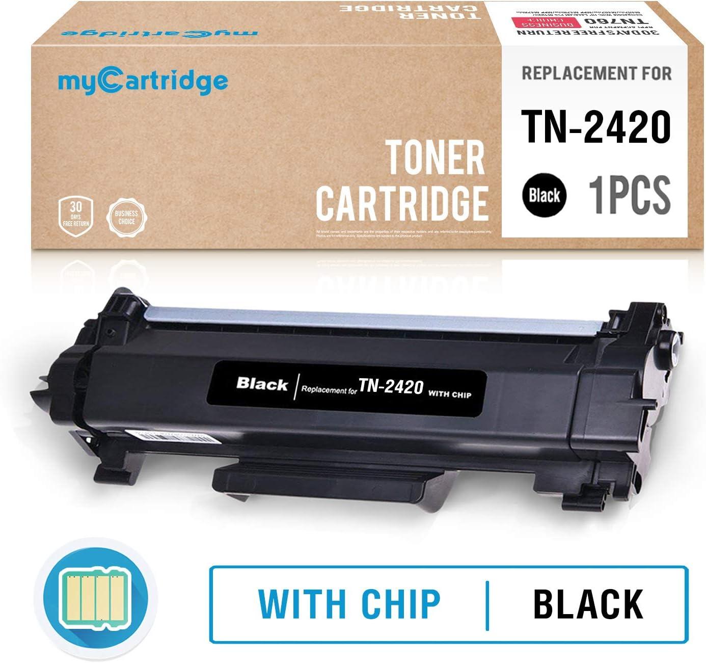 MyCartridge Compatible con Brother TN-2420 TN2420 Tóner negro (con ...