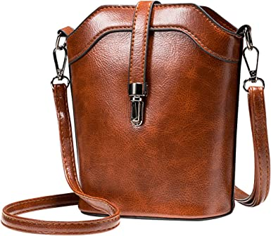 Cell Phone Purse Wallet Leather Crossbody Bag For Women seOSTO Small Bucket Bag