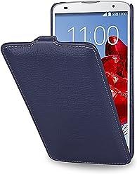 StilGut UltraSlim Case, custodia in vera pelle per LG G Pro 2, blu navy
