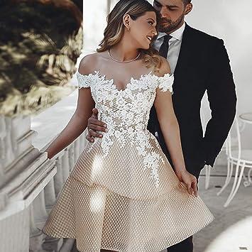 LSZHGL Robes de mariée Sexy épaule Courte