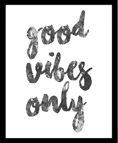 Good Vibes Only Buenas Vibras Quote Frase Blanco Y Negro