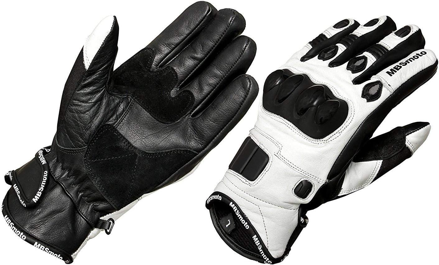 Mbsmoto bici sport Cruiser di guanti in pelle