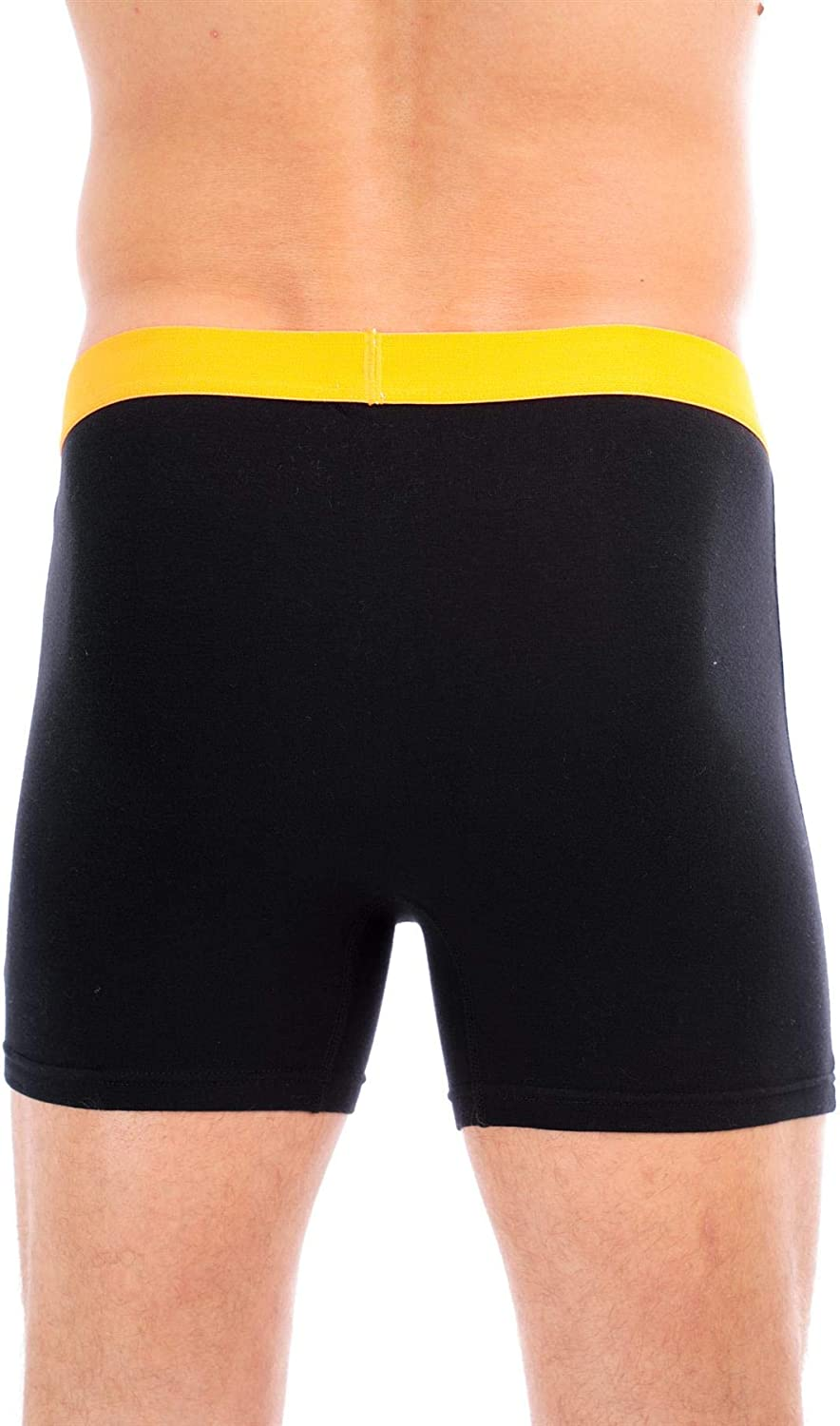 Sock Stack Boxer Shorts Mens Organic Cotton Boxershorts Comfort Fit Black Button Free Boxers Trunks Underwear Pack of 5