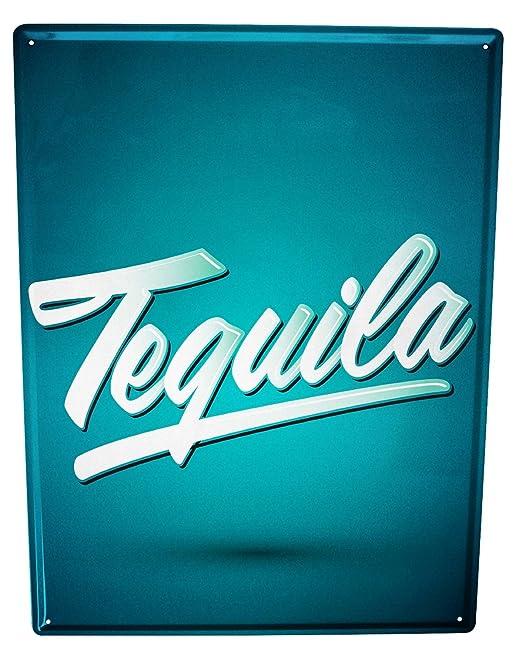 Cartel Letrero de Chapa Nostalgic Alcohol Retro Tequila ...