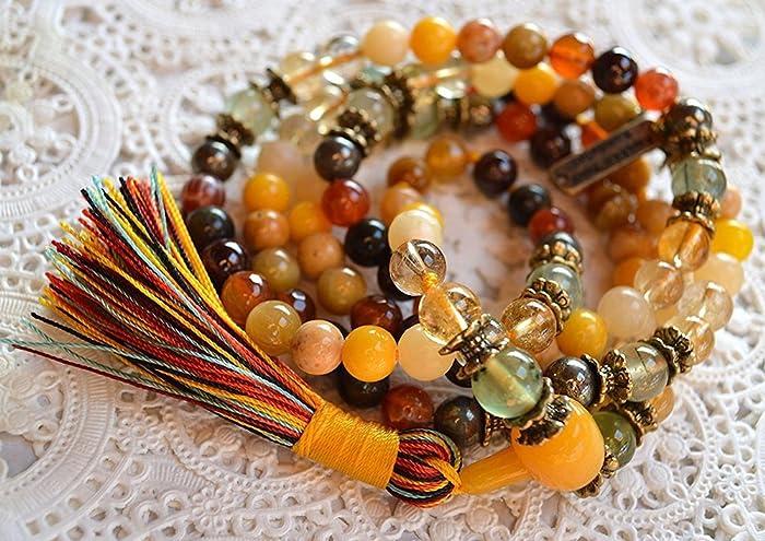 Amazon.com: Manifestation Mala Beads Necklace Hand Knotted ...