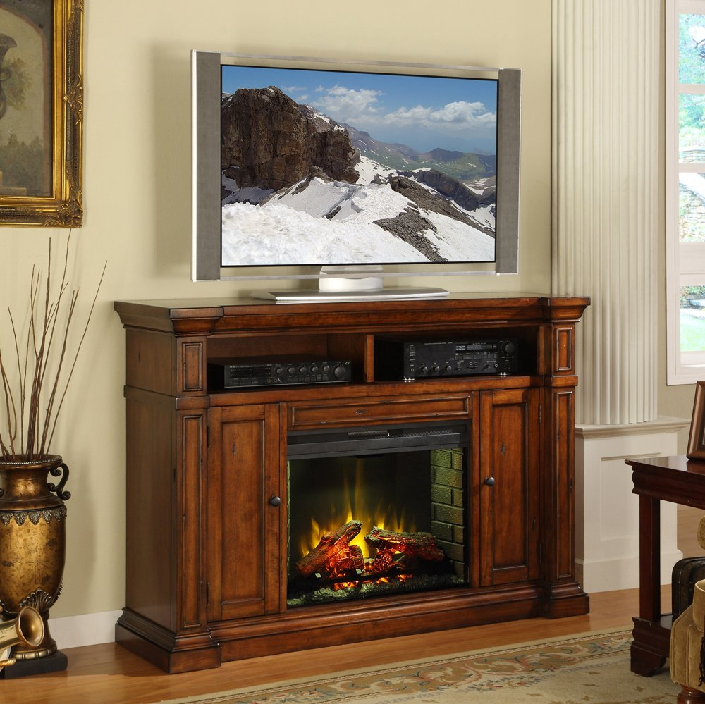 Amazon.com: Legends Furniture ZG B1900 Berkshire Fireplace Media Center,  Old World Umber: Kitchen U0026 Dining