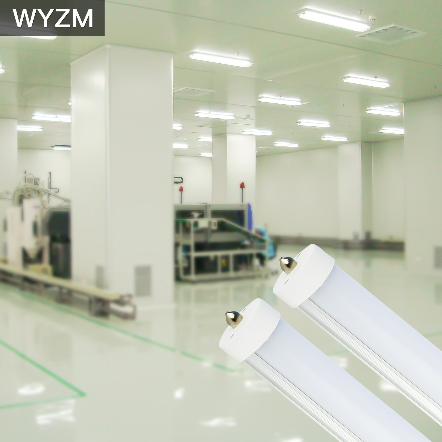 8ft LED Light Tubes for Fluorescent Fixtures,96'' F96T12 LED Tube,Replacement,120V and 277V Input, 5500K Daylight White,40Watt 4000LM Super Bright (4PCS 5500K Daylight White) by WYZM (Image #8)