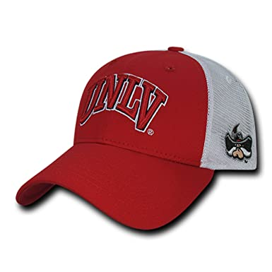 af5d47959 Image Unavailable. Image not available for. Color: BHFC University of Nevada  Las Vegas UNLV Rebels NCAA Structured Trucker Mesh Snapback Baseball Cap Hat