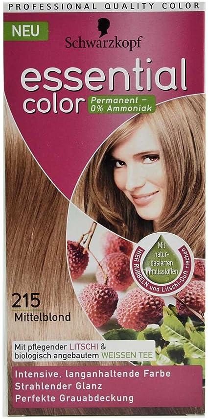 Schwarzkopf Essential Color Tinte para el cabello, rubio medio 215