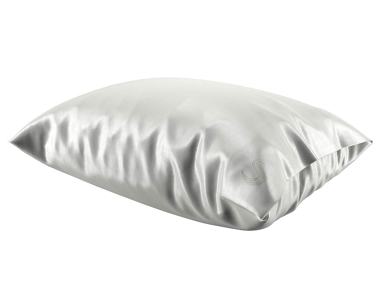 Vanilla SPC01-WHT King Sleepgram Pillowcase-White-Queen//Standard Size Silk Pilllowcase