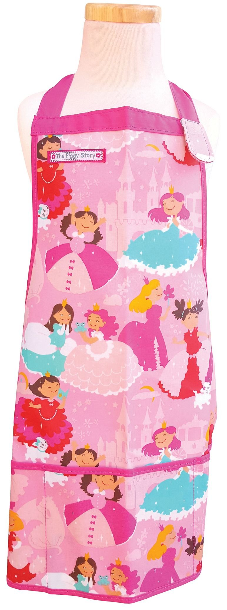 The Piggy Story 'Enchanted Princesses' Child's Fun Time Apron for Arts, Crafts and Cooking