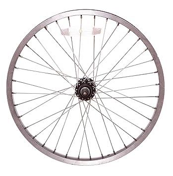 """20 """"trasero eje sólido para bicicleta BMX rueda en negro (26 mm,"""