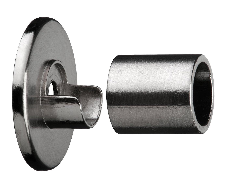 /28/mm Metal Telescopic Extendable Curtain Pole Wall Bracket Stainless Steel Finish 5/x 2/cm tilldekor/