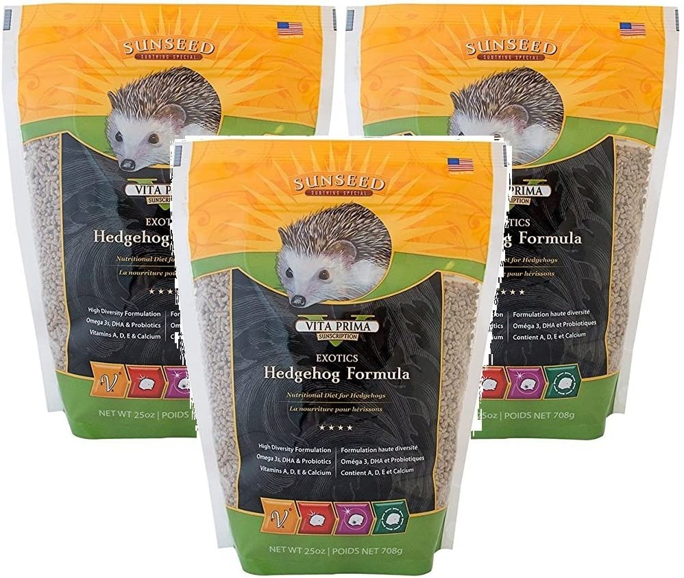 Sun Seed Company Vita Exotics Hedgehog Formula 25oz (Pack of 3)