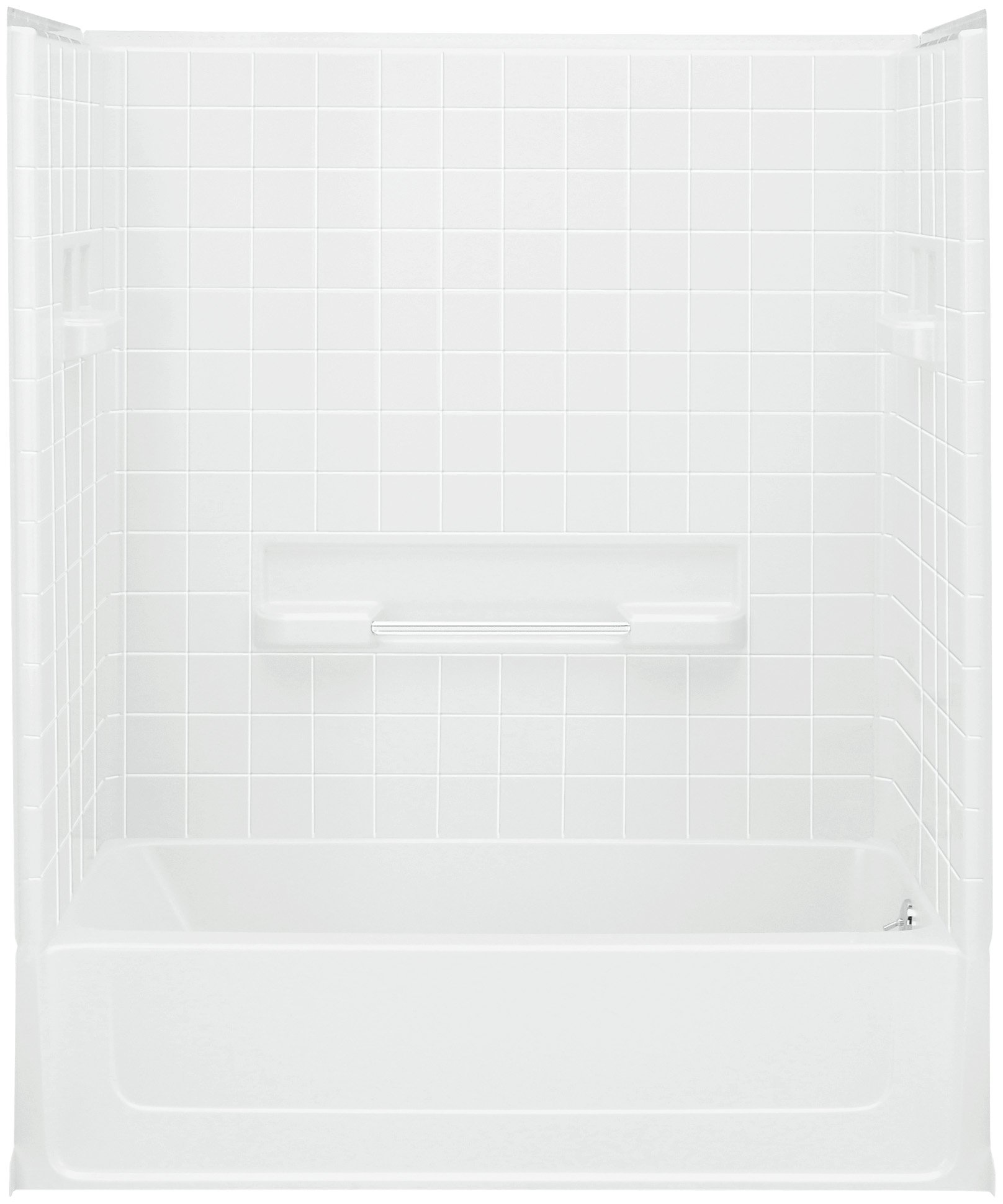 Sterling Plumbing 61040120-0 All Pro Bath and Shower Kit, 60-Inch x 30-Inch x 73.5-Inch, Right-Hand, White