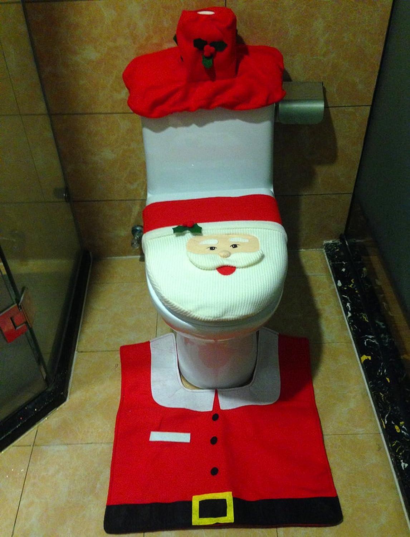 amazon com mini gift santa toilet seat cover and rug set