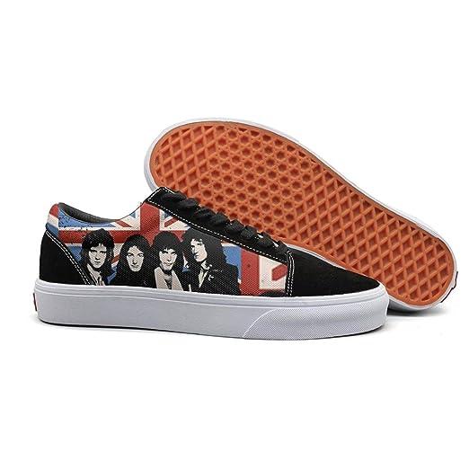 96e2f2ba3725d Amazon.com: Queen-band-design- Shoes Anti-fur Low-top Light Running ...