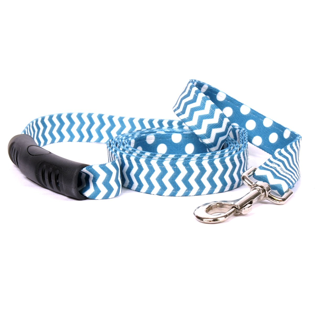 Yellow Dog Design Chevron-Blueberry Uptown Dog Leash 3/4'' Wide and 5' (60'') Long, Small/Medium