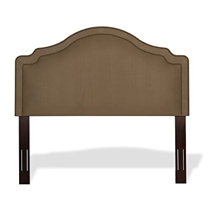 upholstered headboard with wood frame bed versailles upholstered adjustable headboard panel with solid wood frame and nail head trim design brown amazoncom