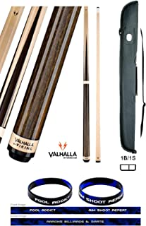 product image for Valhalla VA341 by Viking 2 Piece Pool Cue Stick Hustler Sneaky Pete 4 Point Construction Veneers and Maple Rings, High Impact Ferrule 18-21 oz. Plus Cue Case & Bracelet (Sneaky Pete VA341, 20)