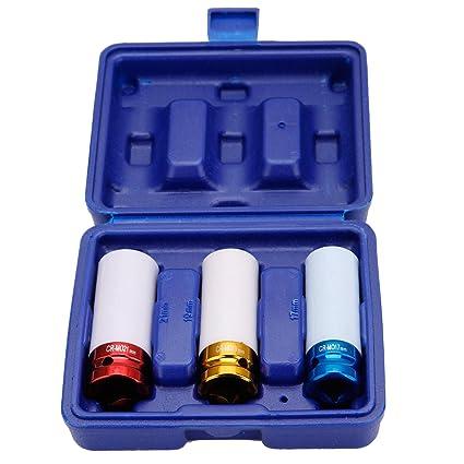 """CLE DE TOUS - Set de 3 piezas Vasos de Impacto 1/2"""","""