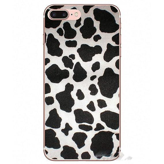 9e071b18c18 for iPhone X 4 4S 5 5S 5C SE 6 6S 7 8 Plus for Samsung Galaxy J1 J3 J5 J7  A3 A5 2016 2017 White Black Cow Symbol Pattern Phone Case