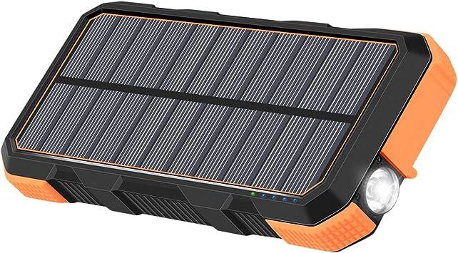 A ADDTOP Cargador Solar 26800mAh 18W Power Bank Portátil 3.0A USB C Batteria Esterna Impermeabile para iPhone, Samsung, Android Tablet y MacBook: Amazon.es: Electrónica