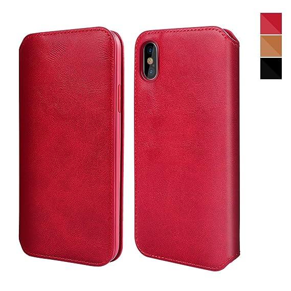 promo code 281a1 333ca Amazon.com: iPhone X Case,XUNDD iPhone X Leather Case Flip Folio ...