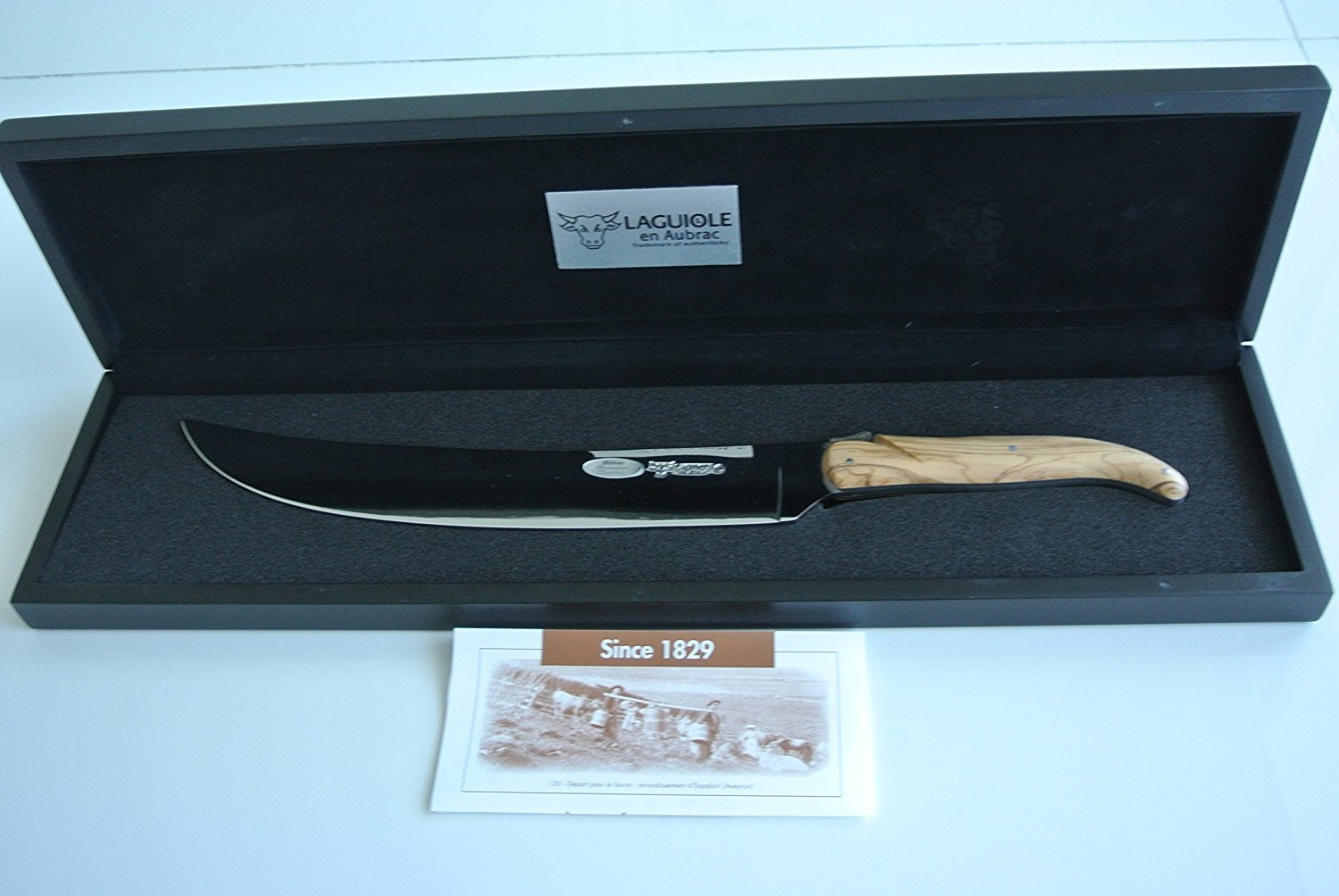 Laguiole en Aubrac Champagne Saber Stainless Steel Olivewood