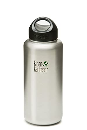 5fbfc623b7 Klean Kanteen Wide Mouth Bottle with Stainless Loop Cap (Brushed  Stainless), Sports Water Bottles - Amazon Canada