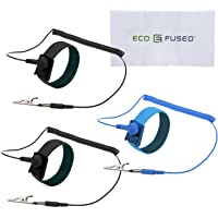 Eco-Fused Anti Static Wrist Straps - Reusable Anti-Static Wrist Straps Equipped with Grounding Wire and Alligator Clip 3…