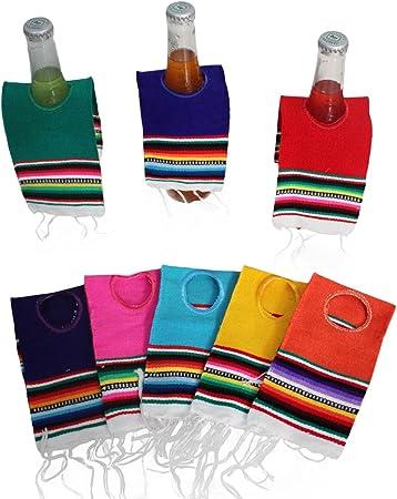 Del Mex 5 Pack Mini mexicano Serape Poncho Beer Bottle Drink Koozie: Amazon.es: Hogar
