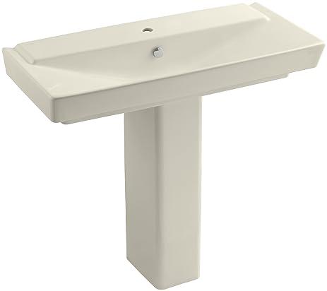 KOHLER K 5149 1 47 Rêve 39u0026quot; Pedestal Bathroom Sink, Almond