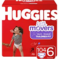 Huggies Little Movers Baby Diapers, Size 6, 104 Ct, One Month Supply