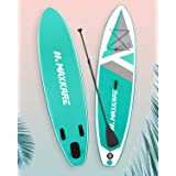 MaxKare SUP Inflatable Stand Up Paddle Board with 10'30''6'' Premium Paddleboard & Bi-Directional Pump & Backpack Portable fo
