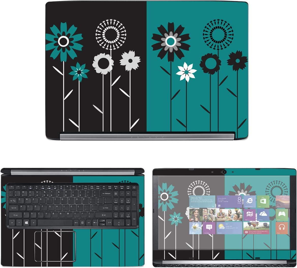 """Decalrus - Protective Decal Floral Skin Sticker for Acer Aspire 5 A515-51G (15.6"""" Screen) case Cover wrap ACaspireA515_51-70"""