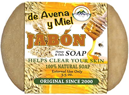 Jabon De Avena Y Miel (Oatmeal and Honey Soap)12 Bars $14.99 Use Once