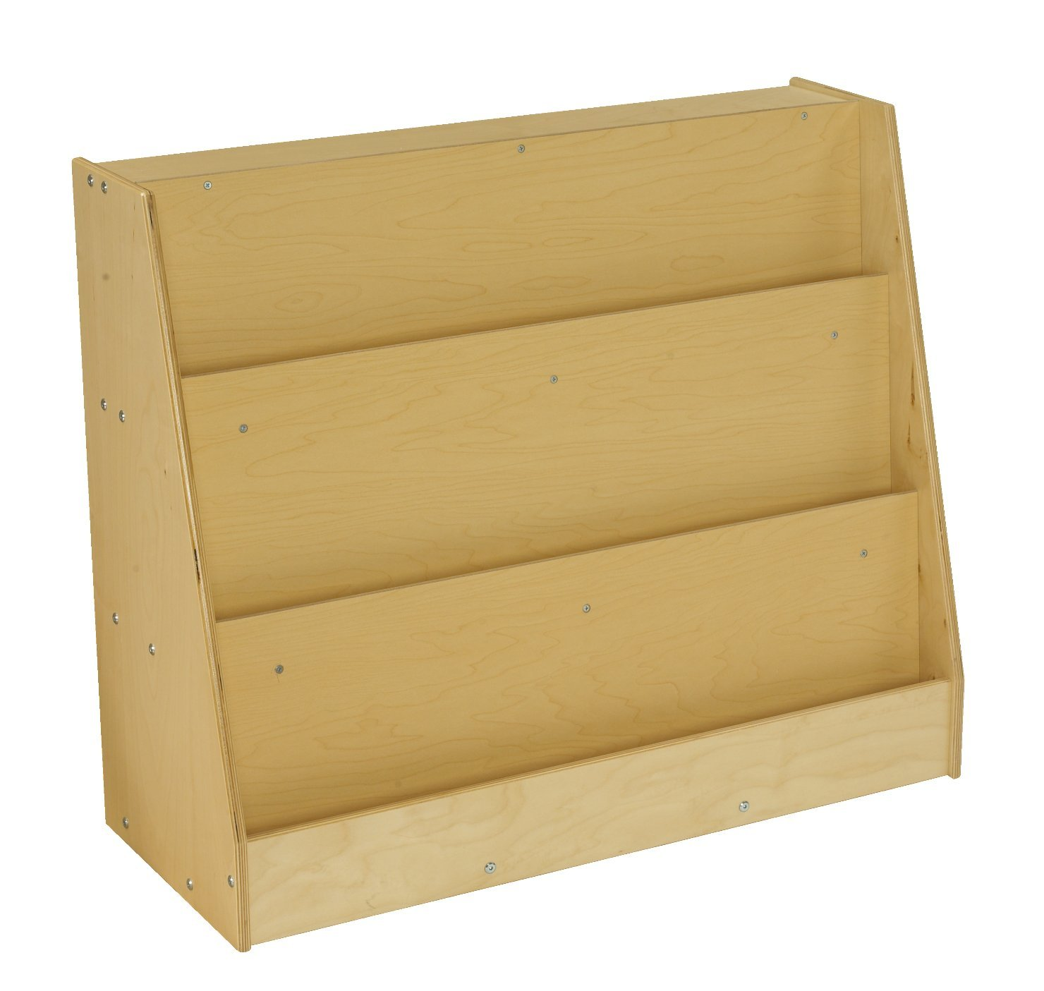 Childcraft 1526415 ABC Furnishings Library Book Display, 30'' Height, 14.5'' Width, 35.75'' Length, Natural Wood
