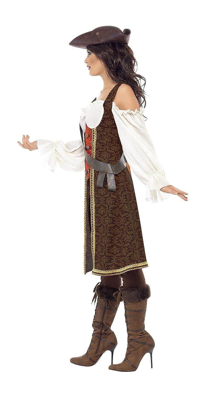 Taille S Marron Smiffys 26225S D/éguisement Femme Jeune Pirate de Haute Mer