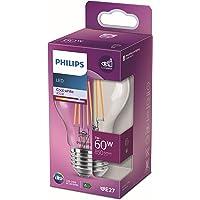 Philips LED Classic 60W A60 Filament Ampul, 4000K Gün Işığı, E27 Normal Duy, Dim Edilmez