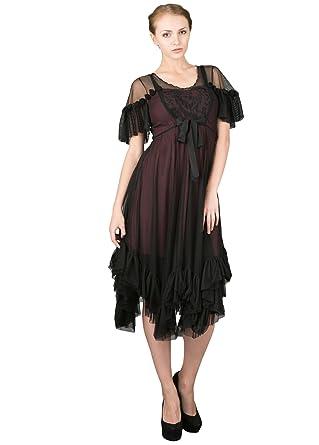e45f4f59c5c Nataya 40194 Women s Romantic Vintage Inspired Party Dress in Black ...