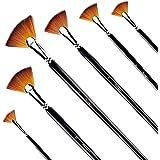 Fan Brushes - Amagic Artist Soft Anti-Shedding Nylon Hair Paint Brush Set for Acrylic Watercolor Oil Painting (6 Pcs)