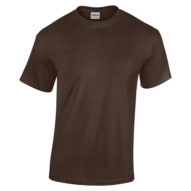 Gildan - Maglietta in Cotone - Unisex - Bambini (M) (Marrone scuro)