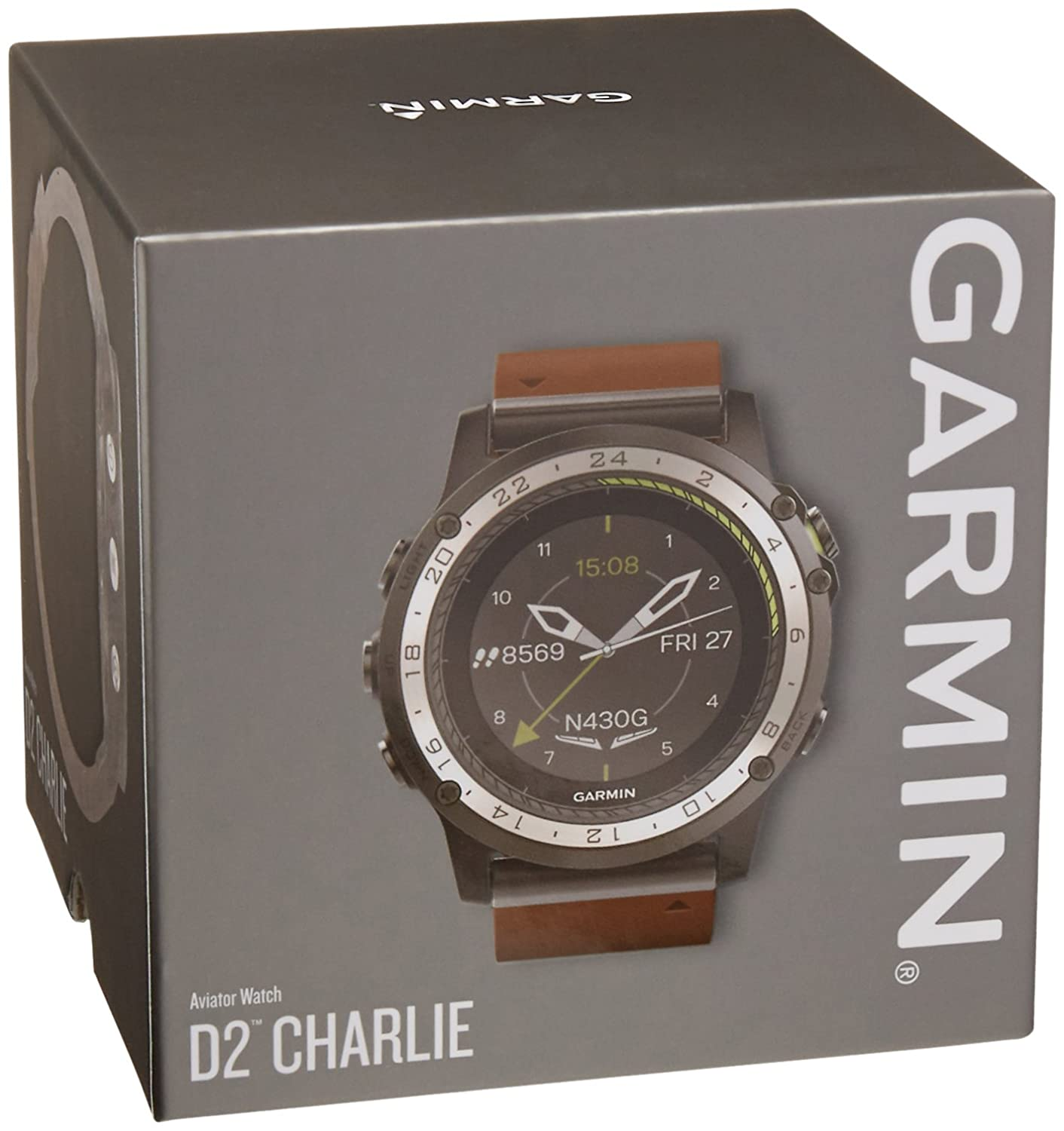 a367801ff Amazon.com: D2 Charlie Aviator Watch, Leather Band (Americas): GPS &  Navigation
