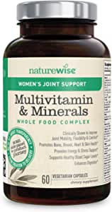 NatureWise Women's Multivitamin Whole Food Complex with Joint Support | Vitamins for Healthy Heart & Bones + UC-II Collagen for Joint Mobility & Comfort (⬇ Watch Video in Images) [1 Month - 60 Count]